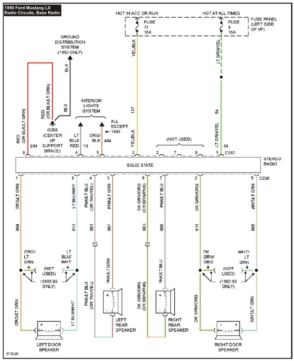 medium resolution of 1990 mustang radio wiring diagram download 2000 ford mustang stereo wiring diagram elegant kymco super