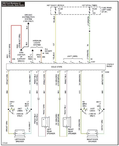 small resolution of 1990 mustang radio wiring diagram download 2000 ford mustang stereo wiring diagram elegant kymco super