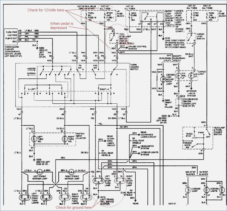 1993 Chevy C1500 Truck Fuse Diagram