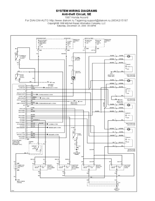 small resolution of 97 honda wiring diagram data schematic diagram 1994 honda goldwing wiring diagram