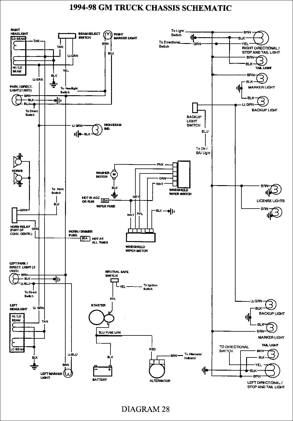 hight resolution of chevy 4x4 wiring diagram wiring diagram list 1993 chevy 1500 actuator wiring diagram