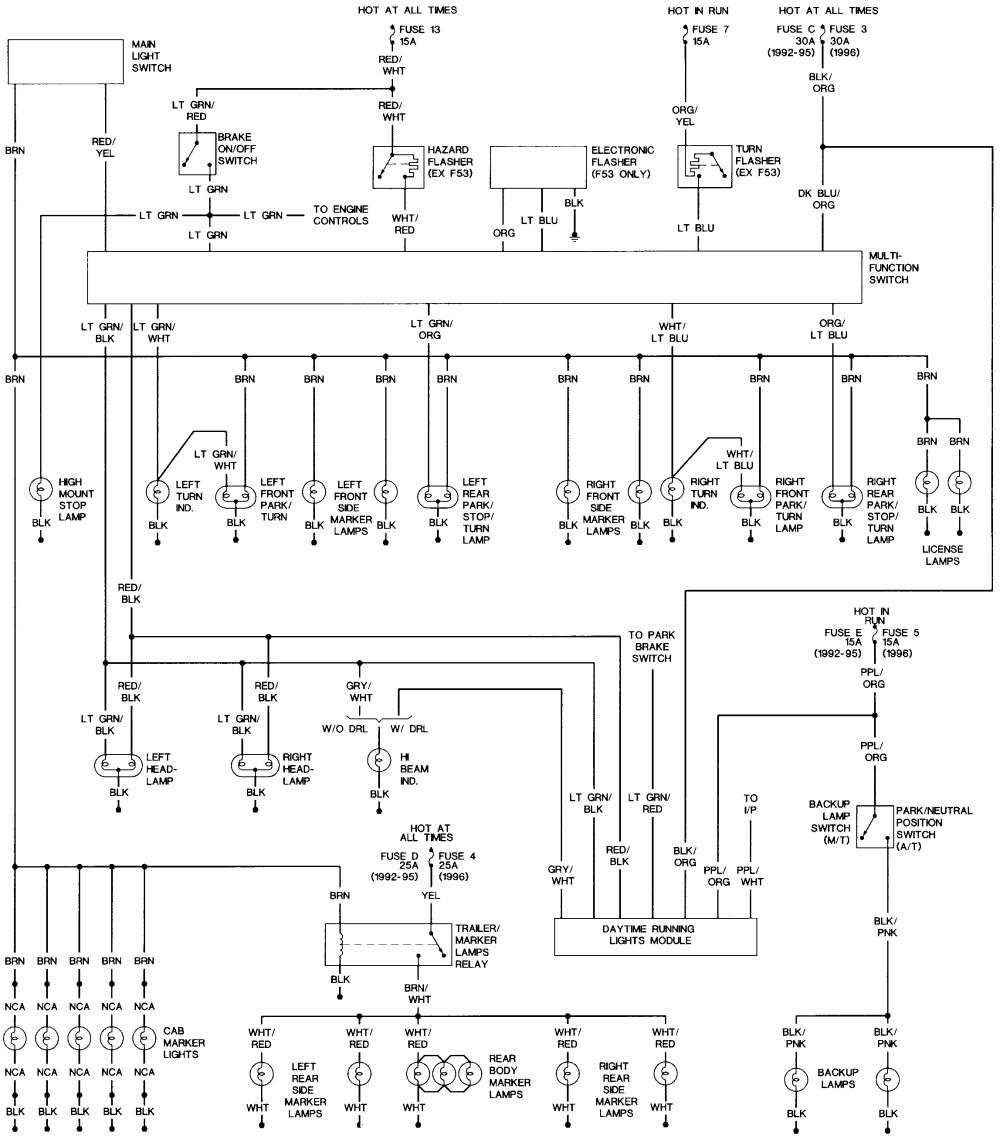 medium resolution of 1996 f150 headlight wiring schematic