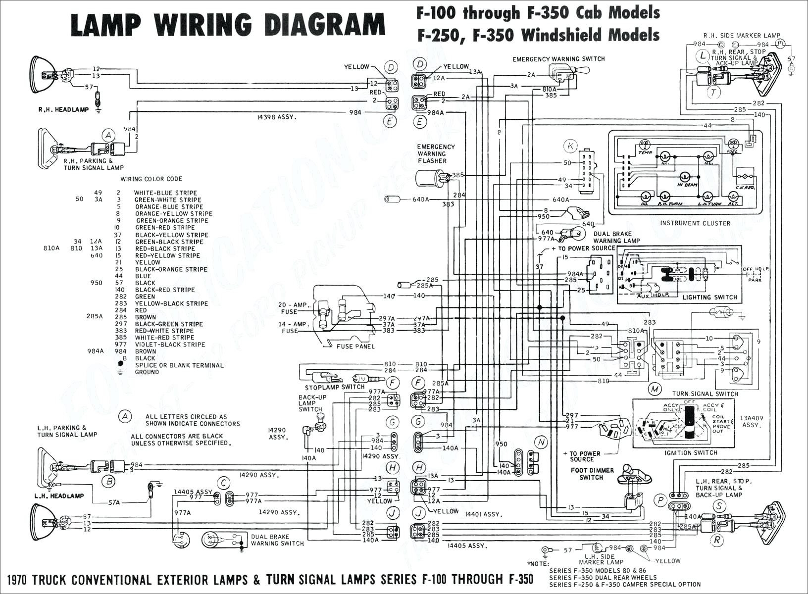 1985 Ford F150 Headlight Switch Wiring Diagram • Wiring
