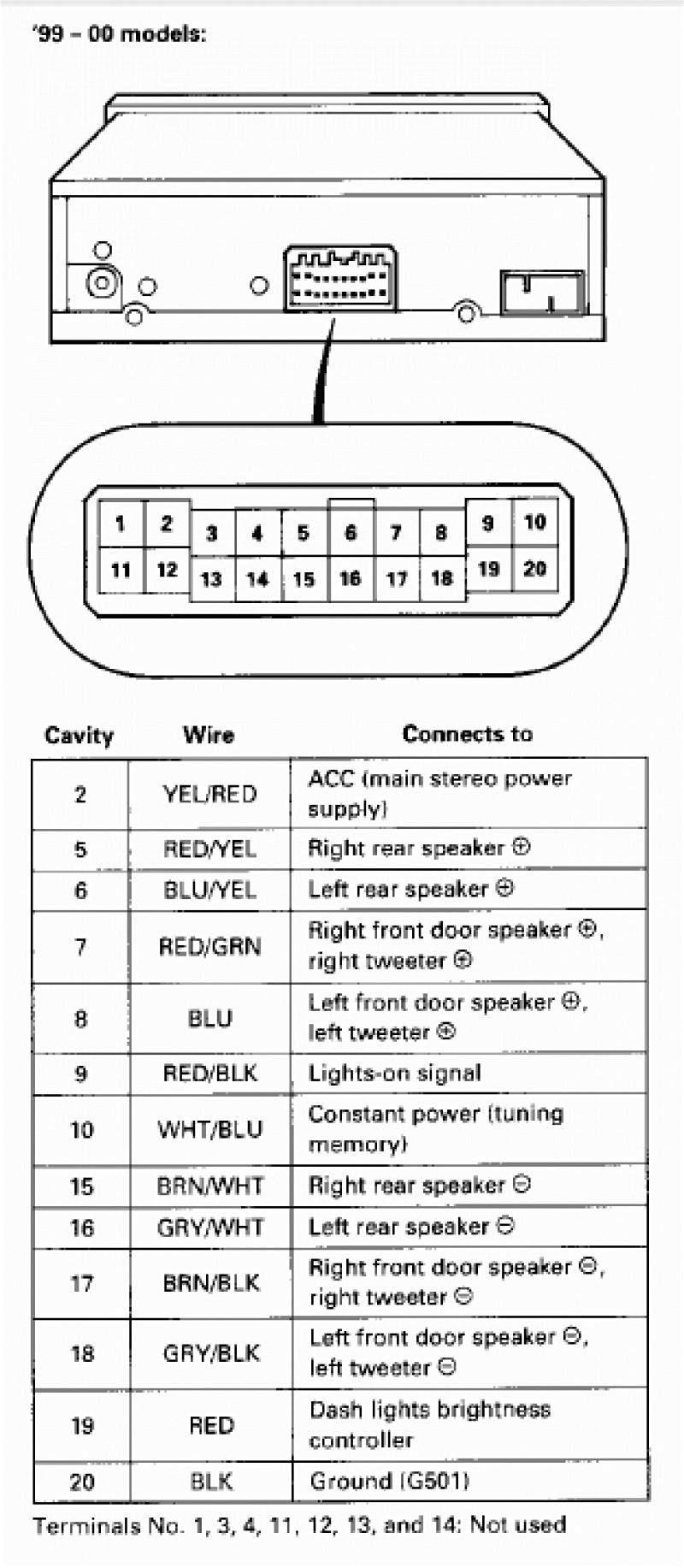 medium resolution of 2000 honda civic radio wiring diagram