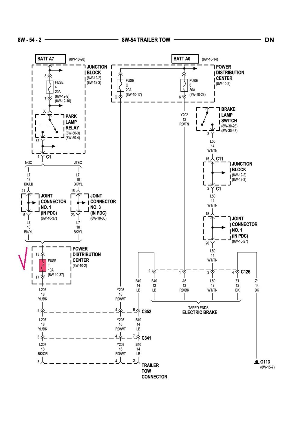 medium resolution of 2003 dodge ram trailer wiring schema diagram database 2003 dodge grand caravan trailer wiring