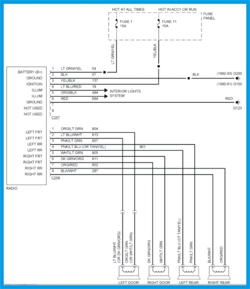 small resolution of 2001 dodge ram 2500 radio wiring diagram