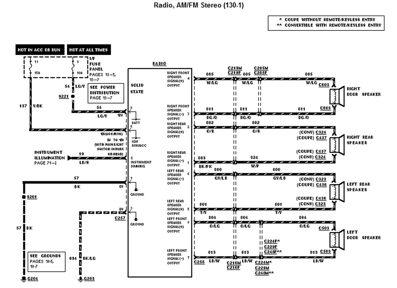 2001 mustang wiring diagram 4 wire trailer lights ford sample