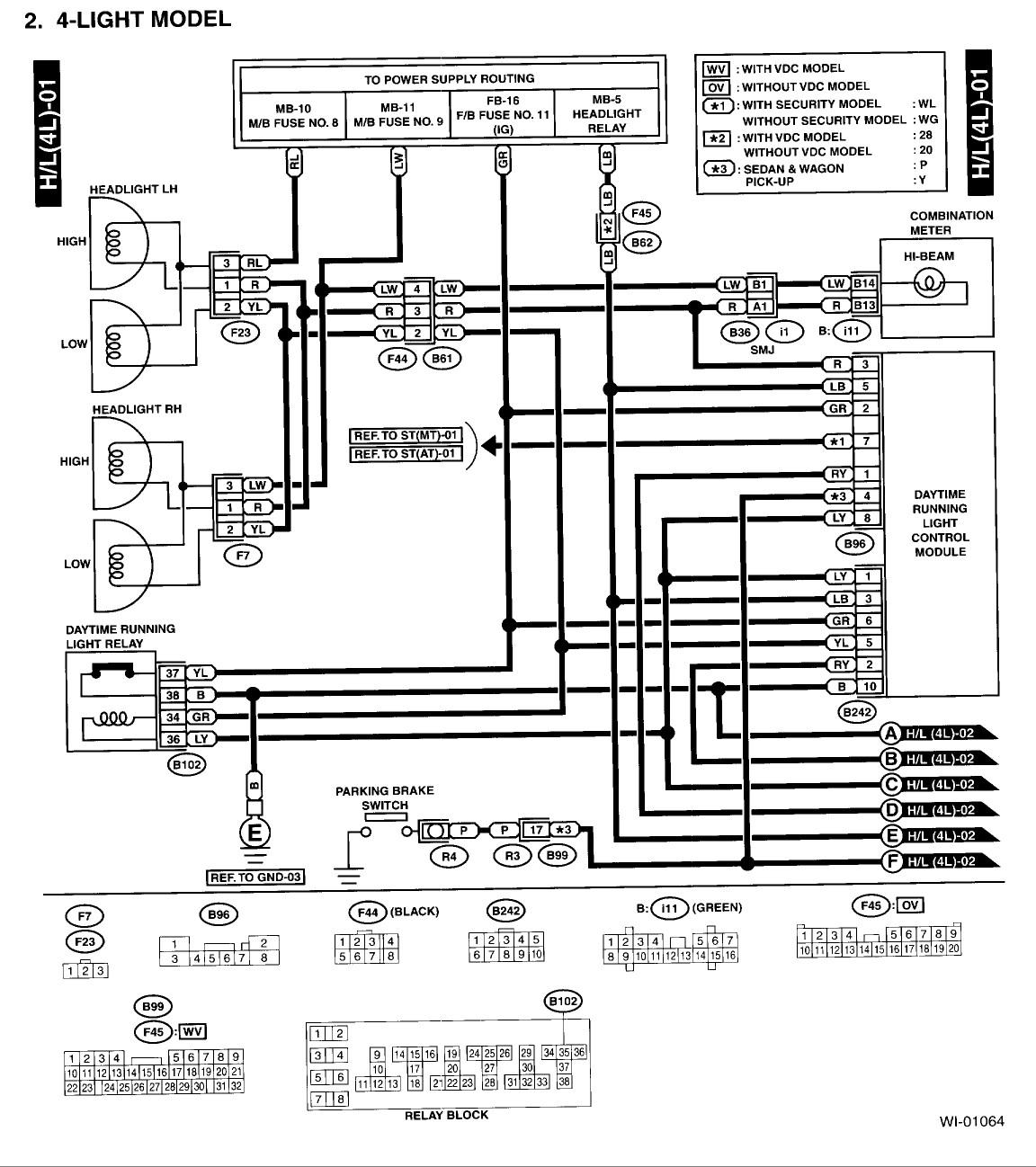 2001 Subaru Outback Radio Wiring Diagram Collection
