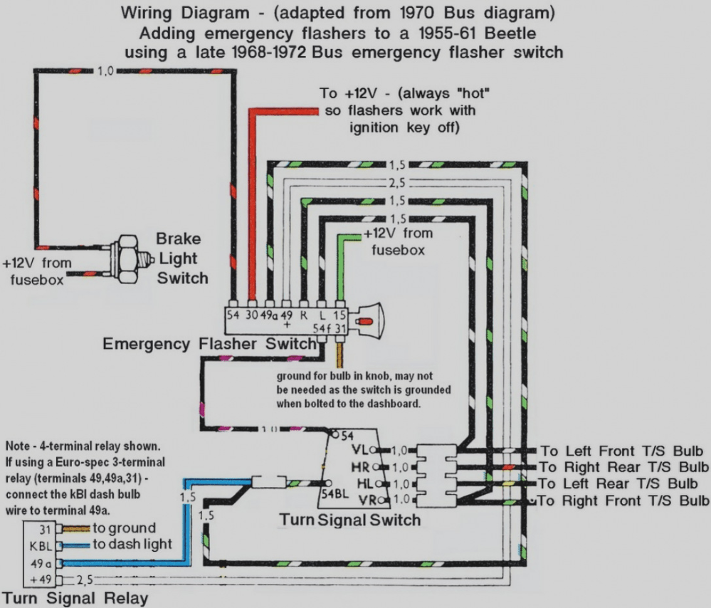 medium resolution of 1972 vw bug turn signal wiring wiring diagram post 1972 vw beetle voltage regulator wiring diagram 1972 vw bug wiring diagram