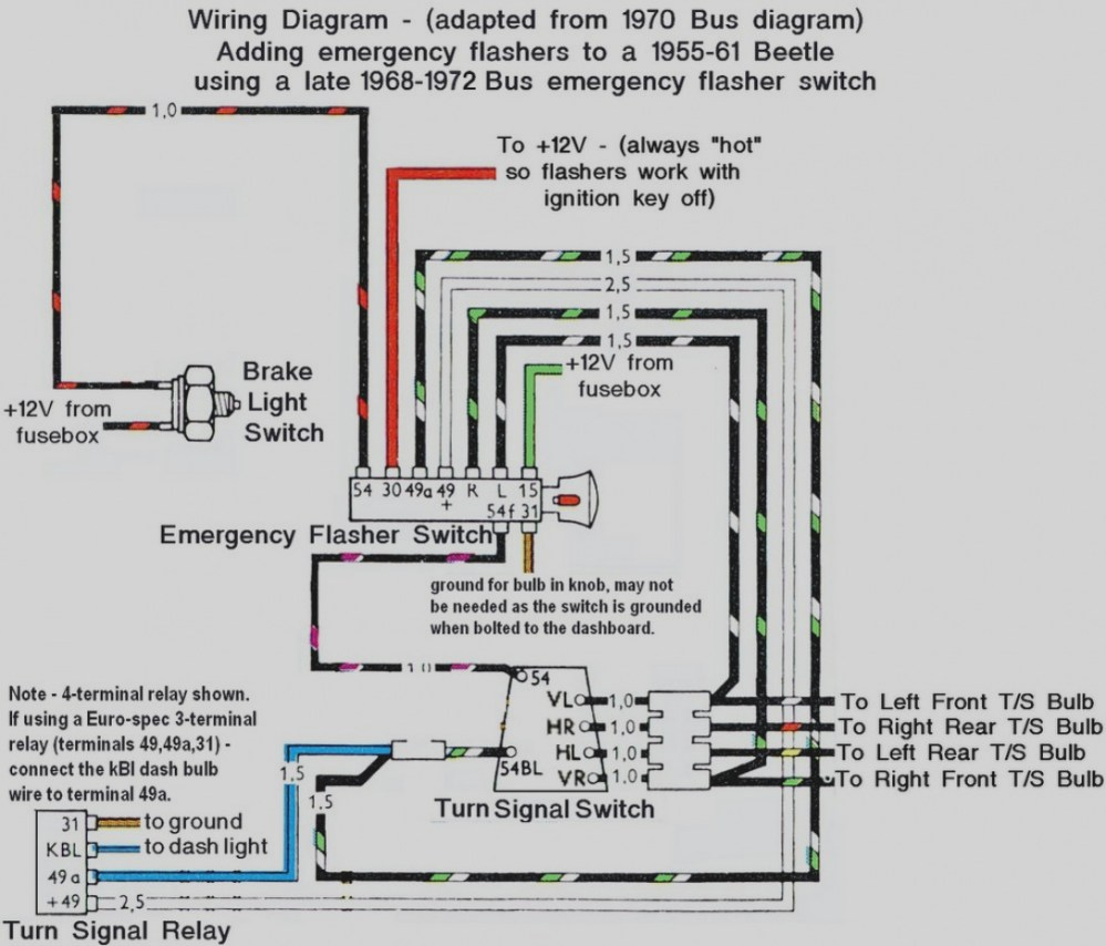 medium resolution of turn signal flasher wiring diagram free download wiring diagram query 69 vw turn signal wiring diagram free download