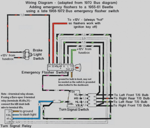 small resolution of turn signal wiring diagram 1971 vw wiring diagram article bus flasher wiring diagram
