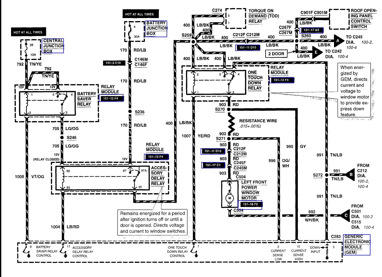 2003 explorer window wiring diagram