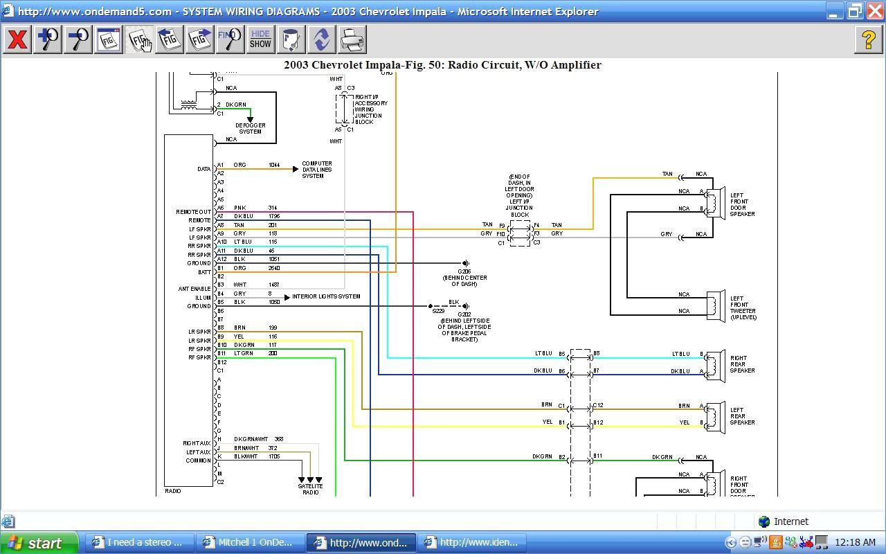 2003 silverado stereo wiring diagram 99 dodge neon radio chevy impala gallery