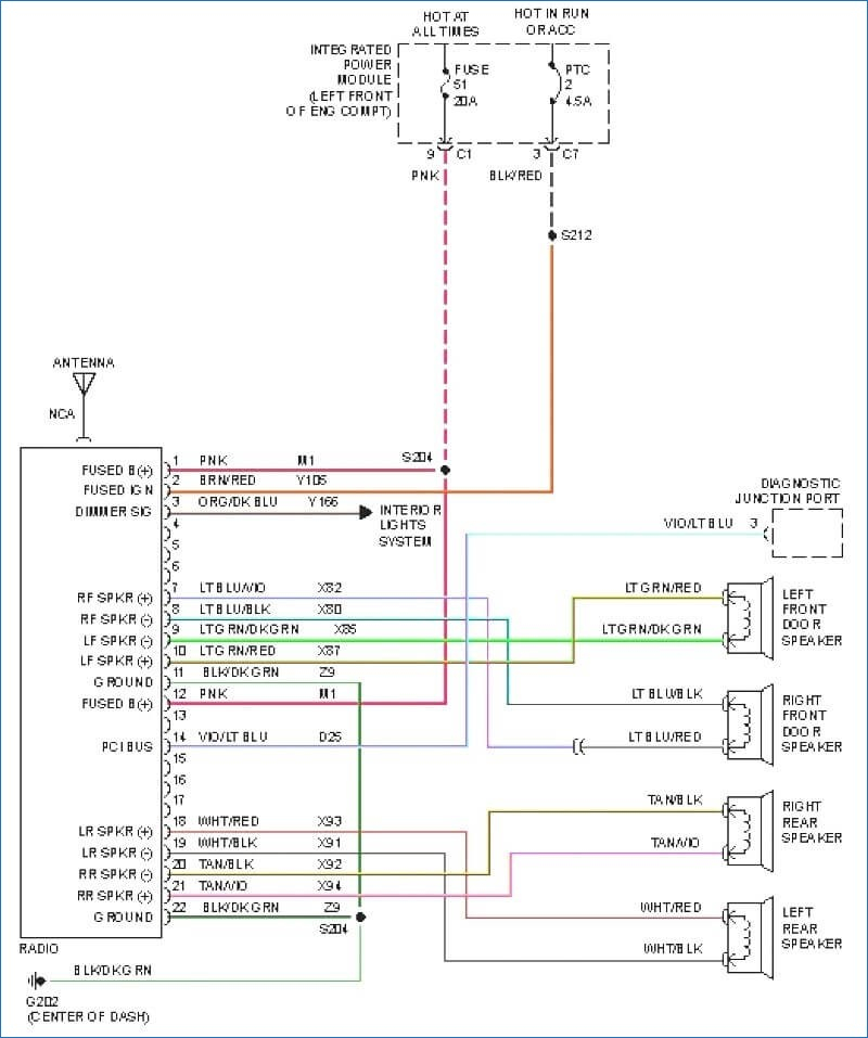 Chrysler 300m Stereo Wire Diagram Uconnect Radio Wiring Diagram Pulsecode Org