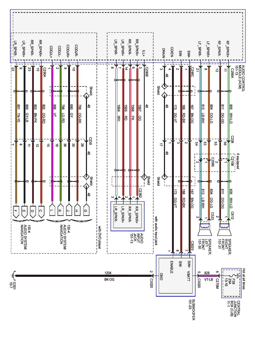 medium resolution of 2003 ford focus radio wiring diagram download wiring diagram sample 2013 f 150 7 pin