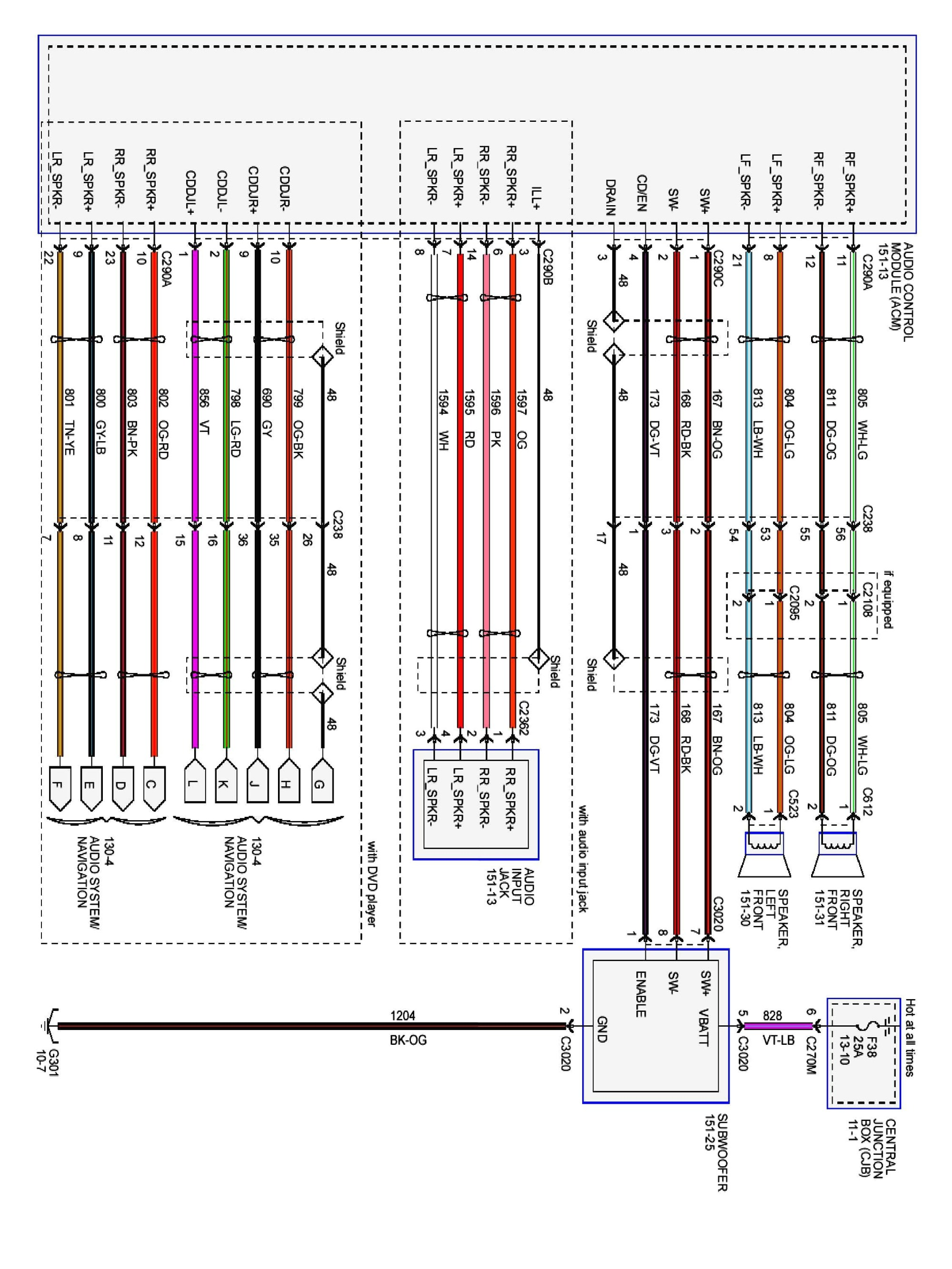 hight resolution of 2003 ford focus radio wiring diagram download wiring diagram sample 2013 f 150 7 pin