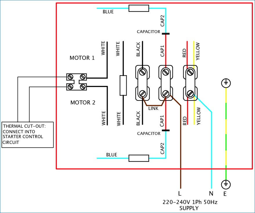 single phase capacitor start motor wiring diagrams file name 1single phase dual capacitor motor diagram simplexstyle com rh simplexstyle com capacitor start capacitor run motor diagram single phase electric motor