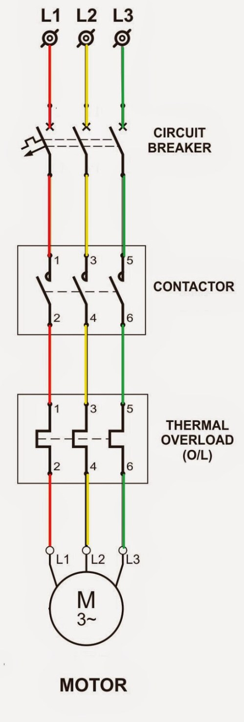 small resolution of 3 phase motor starter wiring diagram pdf collection dol power circuit 1 g