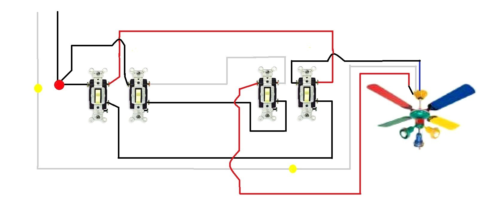 ceiling fan wiring diagram switch goodman gas furnace 3 way gallery sample download 4 diagrams unique
