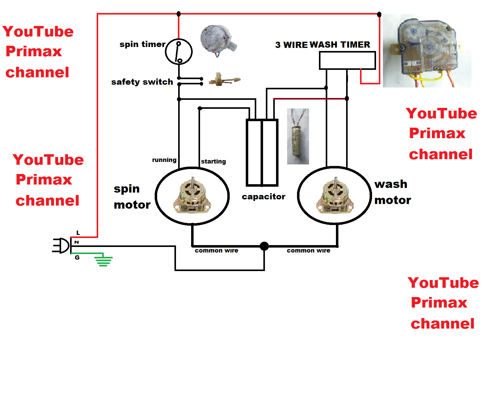 hight resolution of 3 wire washing machine motor wiring diagram collection 3 wier timer diagram connection simple washing