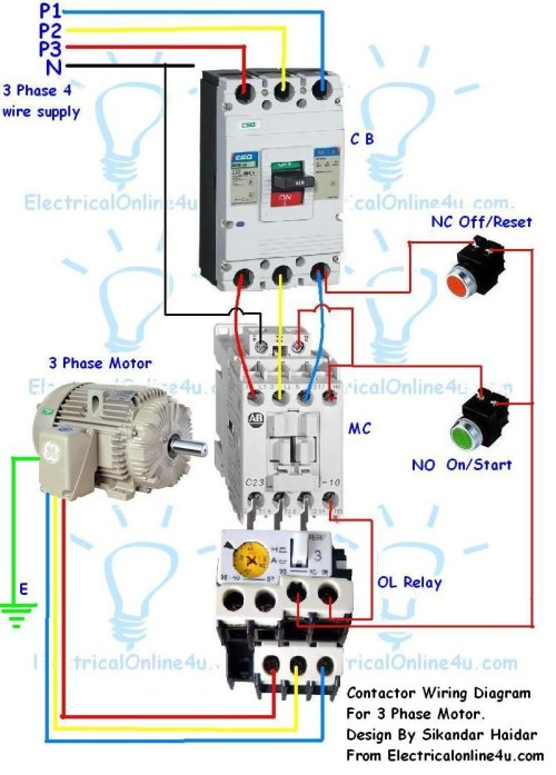 small resolution of ac contactor wiring diagram download contactor wiring guide for 3 phase motor with circuit breaker