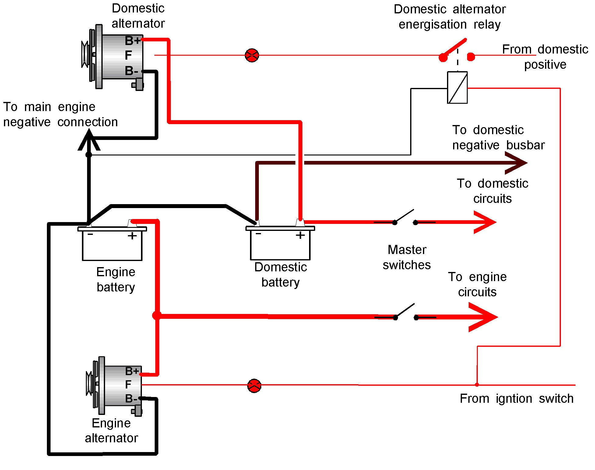 delco remy alternator wire diagram 2