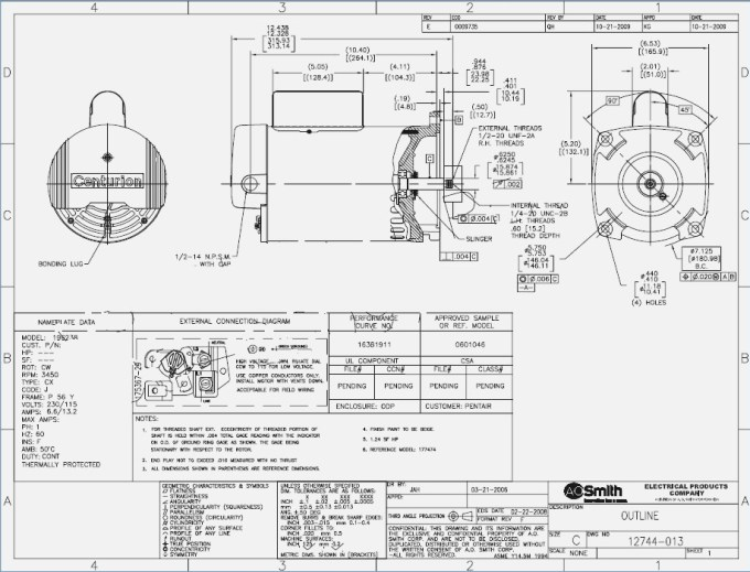 Ao Smith 1 2 Hp Motor Wiring Diagram Motorwallpapers Org