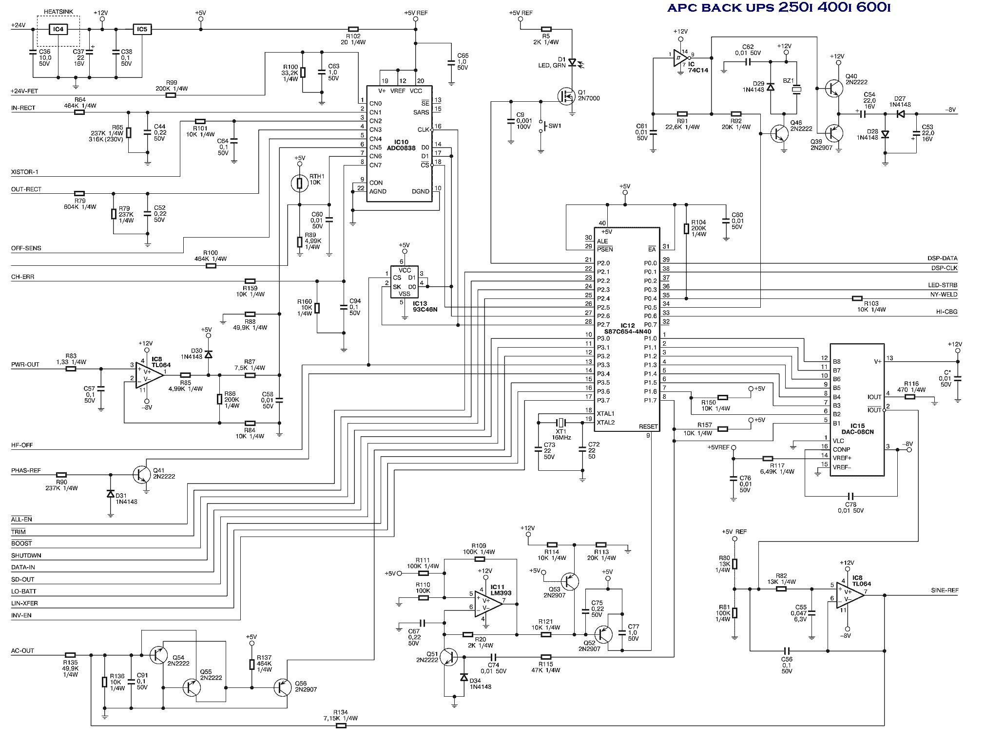 apc back ups diagram