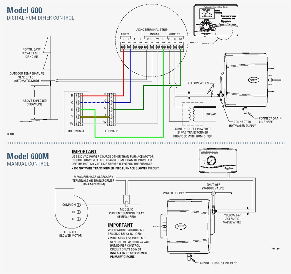 aprilaire 600 wiring schematic