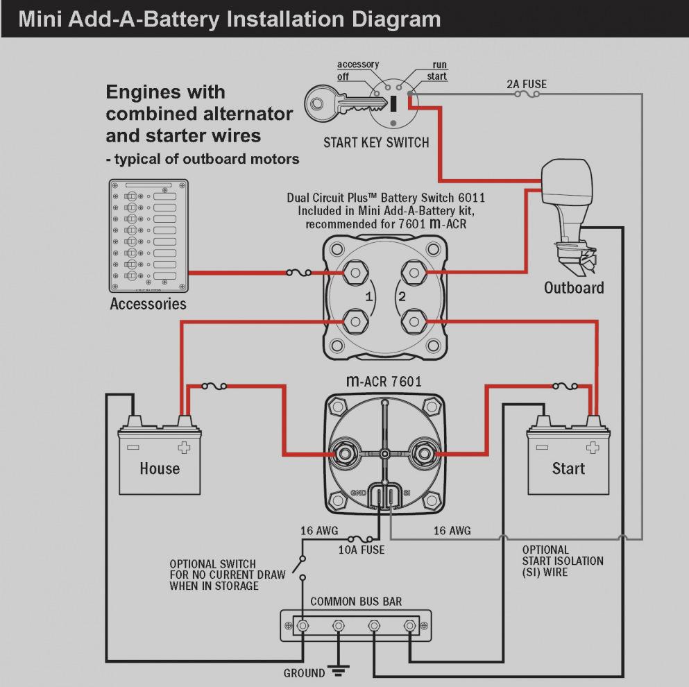 Battery Separator Wiring Diagram - Schematics Online on