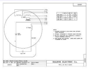 Baldor 2 Hp Single Phase Motor Wiring Diagram