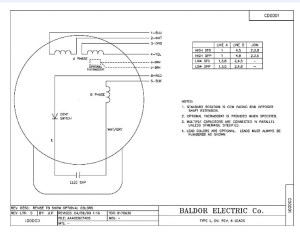 Baldor Motors Wiring Diagram  impremedia