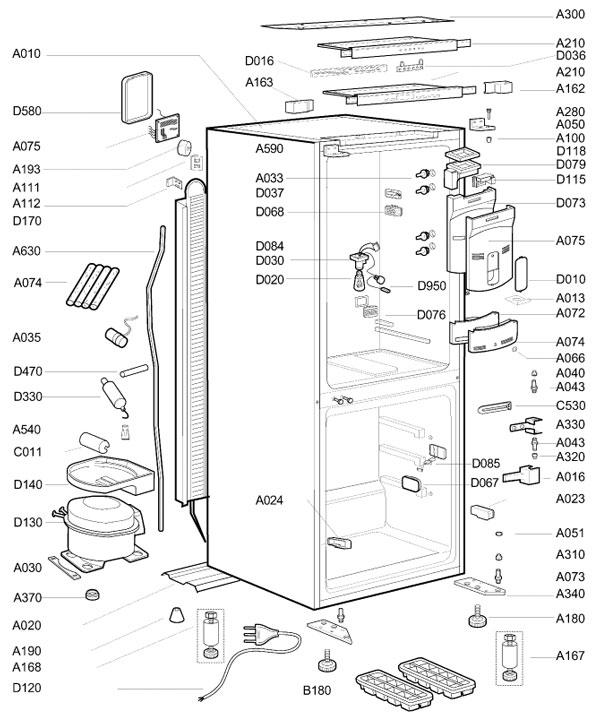 Beko Fridge Freezer thermostat Wiring Diagram Gallery