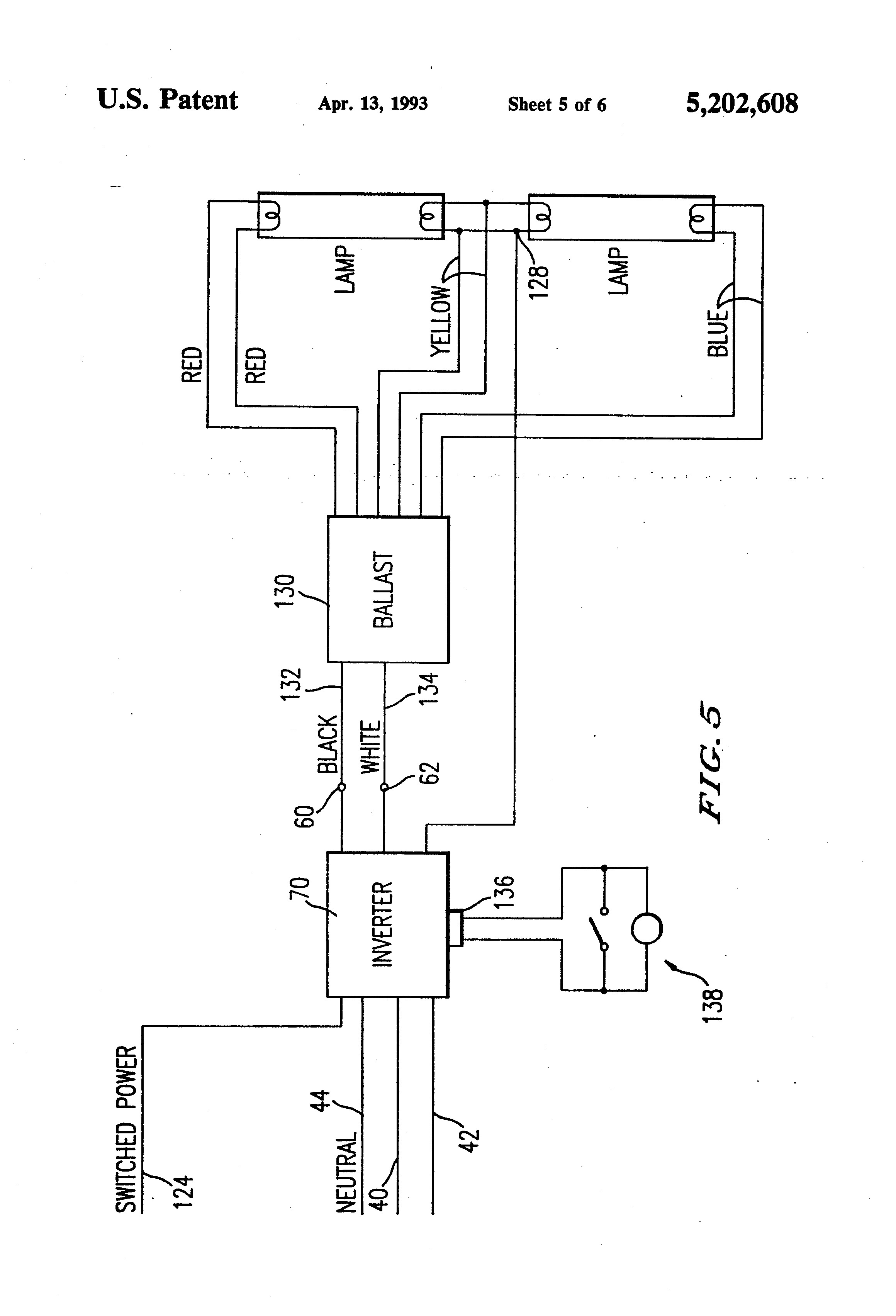wiring diagram 4 lamp t8 ballast