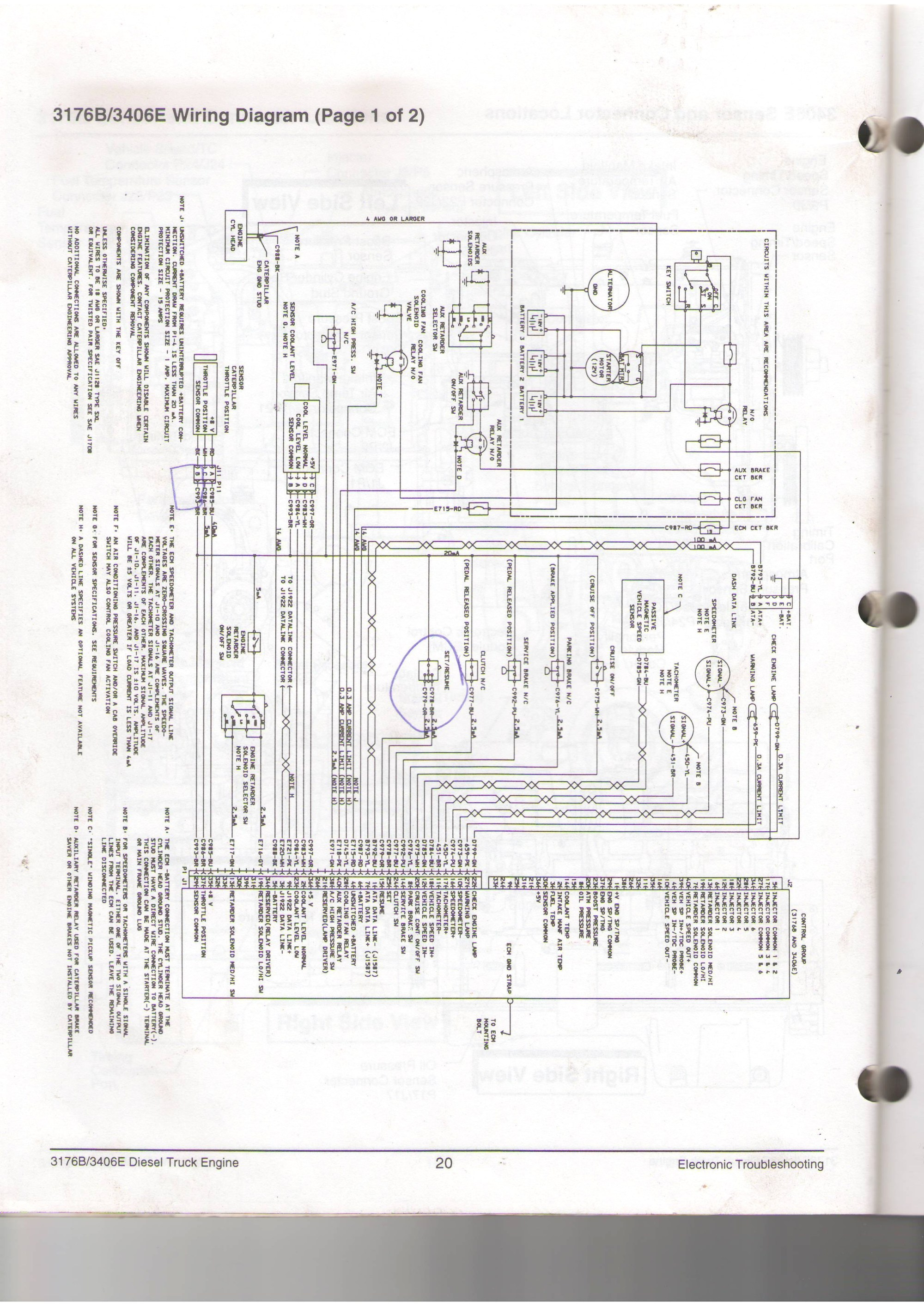 hight resolution of cat 3126 engine diagram wiring diagram page cat 3126 engine sensor diagram