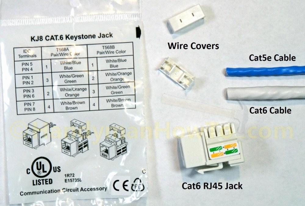 medium resolution of cat5e rj45 jack wiring diagram