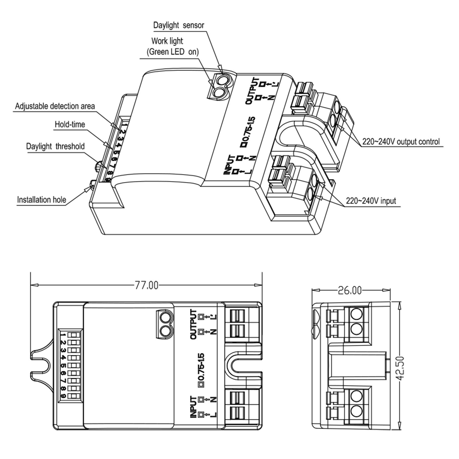 Ceiling Mount Occupancy Sensor Wiring Diagram Sample