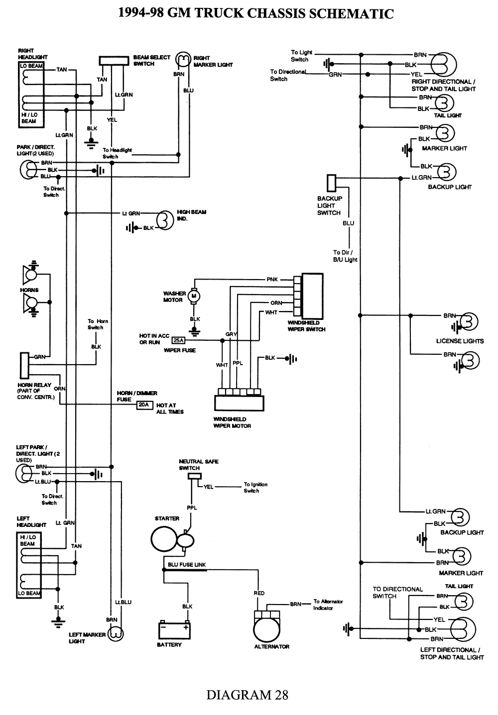 hight resolution of 1998 chevy truck wiring harness diagram simple wiring schema 98 gmc w4500 wiring diagram 1998