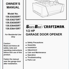 Craftsman Garage Door Opener Wiring Diagram Sonos Play 1 2 Hp