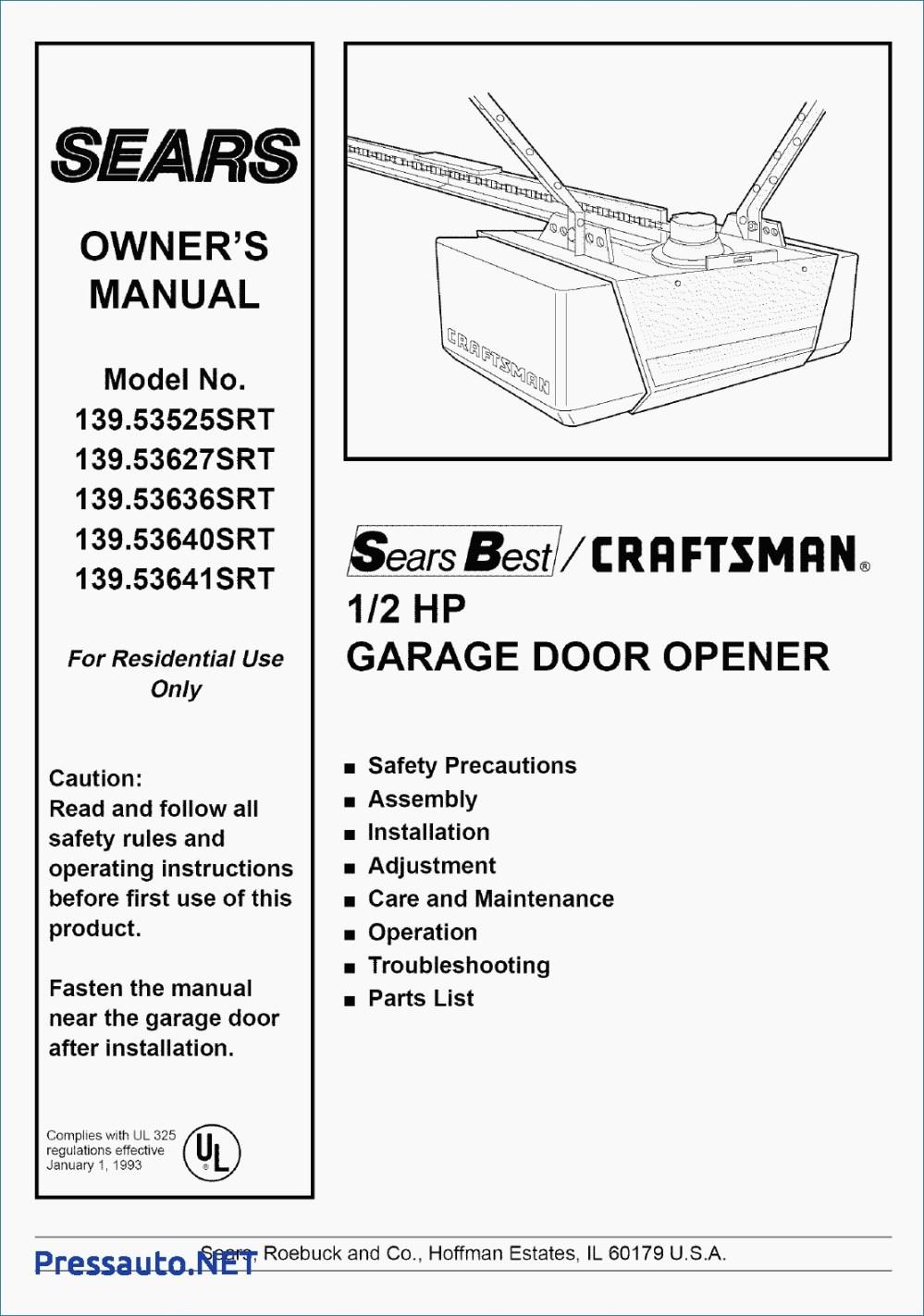 medium resolution of craftsman 1 2 hp garage door opener wiring diagram download craftsman garage door opener wiring