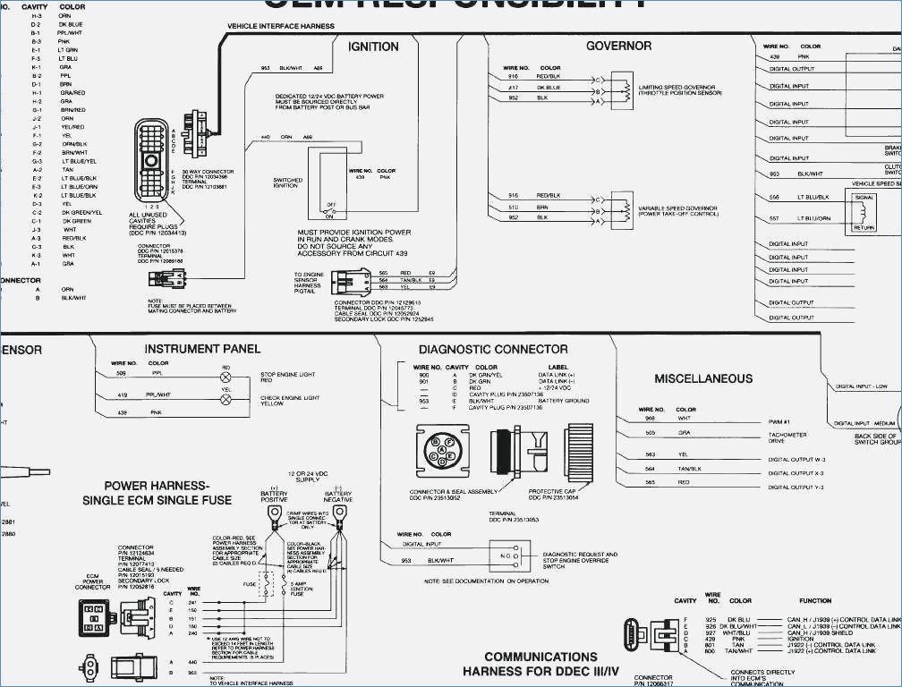 Detroit Diesel Series 60 Ecm Wiring Diagram Gallery