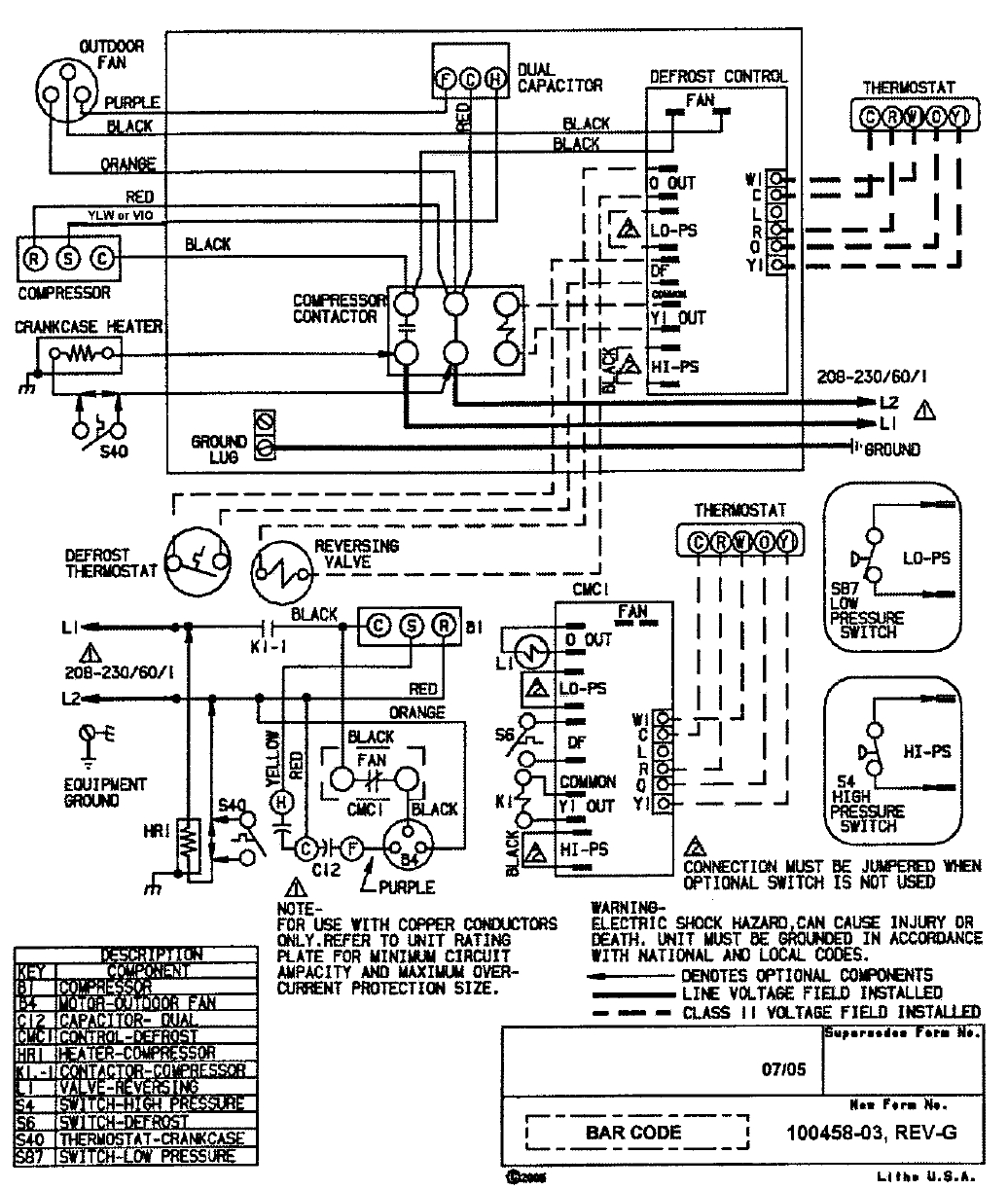 Goodman Motherboard Wiring Color Code