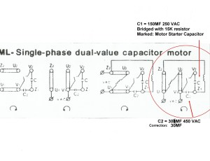 Electric Motor Wiring Diagram 220 to 110 Sample | Wiring
