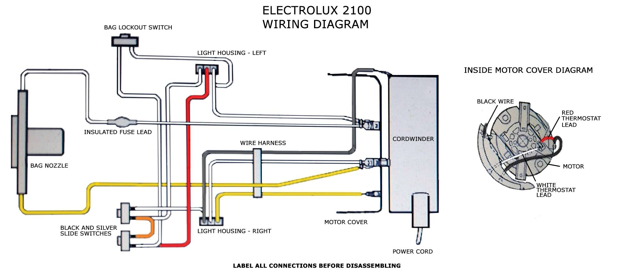 electrolux wiring diagram on vacuum telephone jack color code dc17 oreck xl dyson motor clark