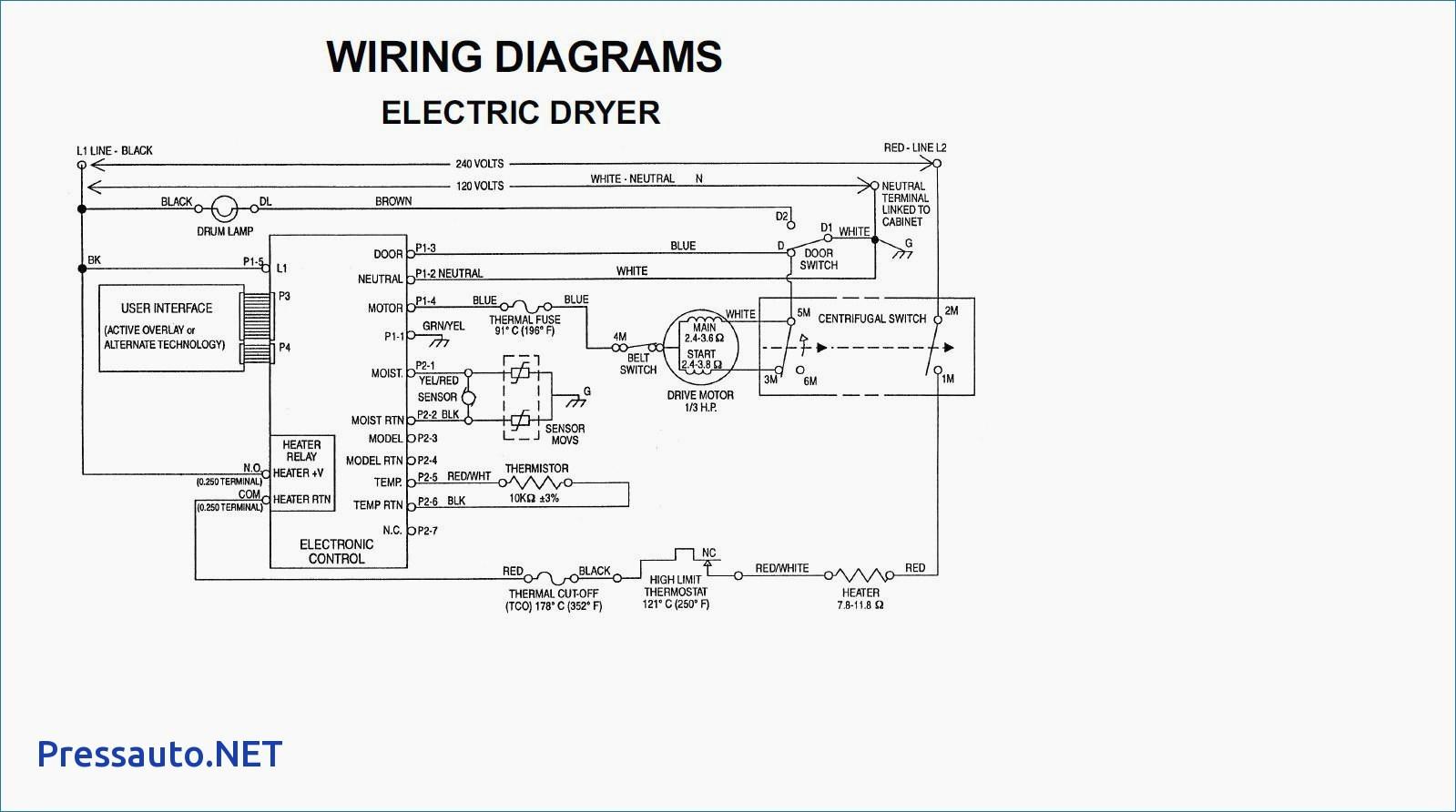 wiring diagram duet dryer