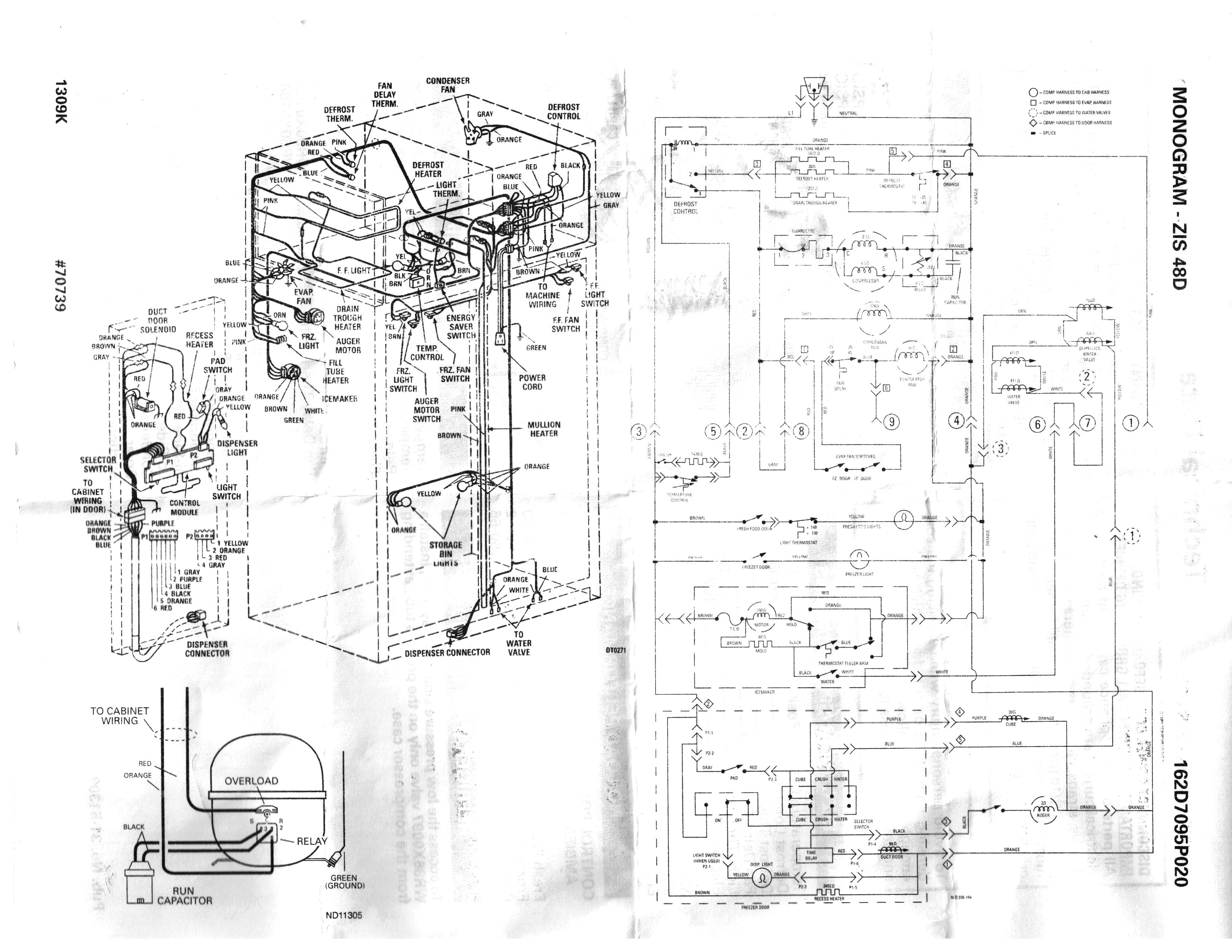 Ge Side by Side Refrigerator Wiring Diagram Sample