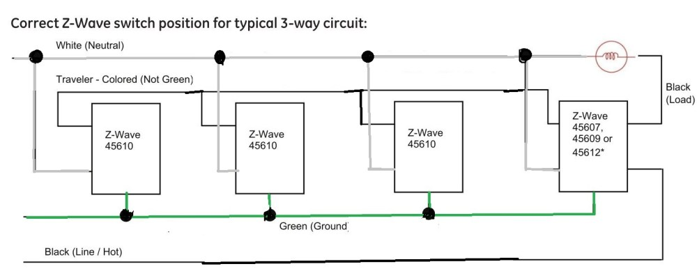 medium resolution of ge z wave 4 way switch wiring diagram