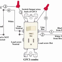 Gfci Wiring Diagrams Cool Paper Plane Diagram Outlet With Switch Sample