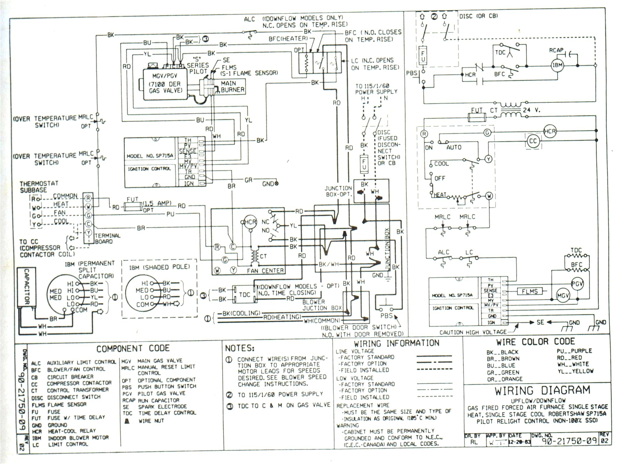 Old Trane Electric Furnace Wiring Diagram