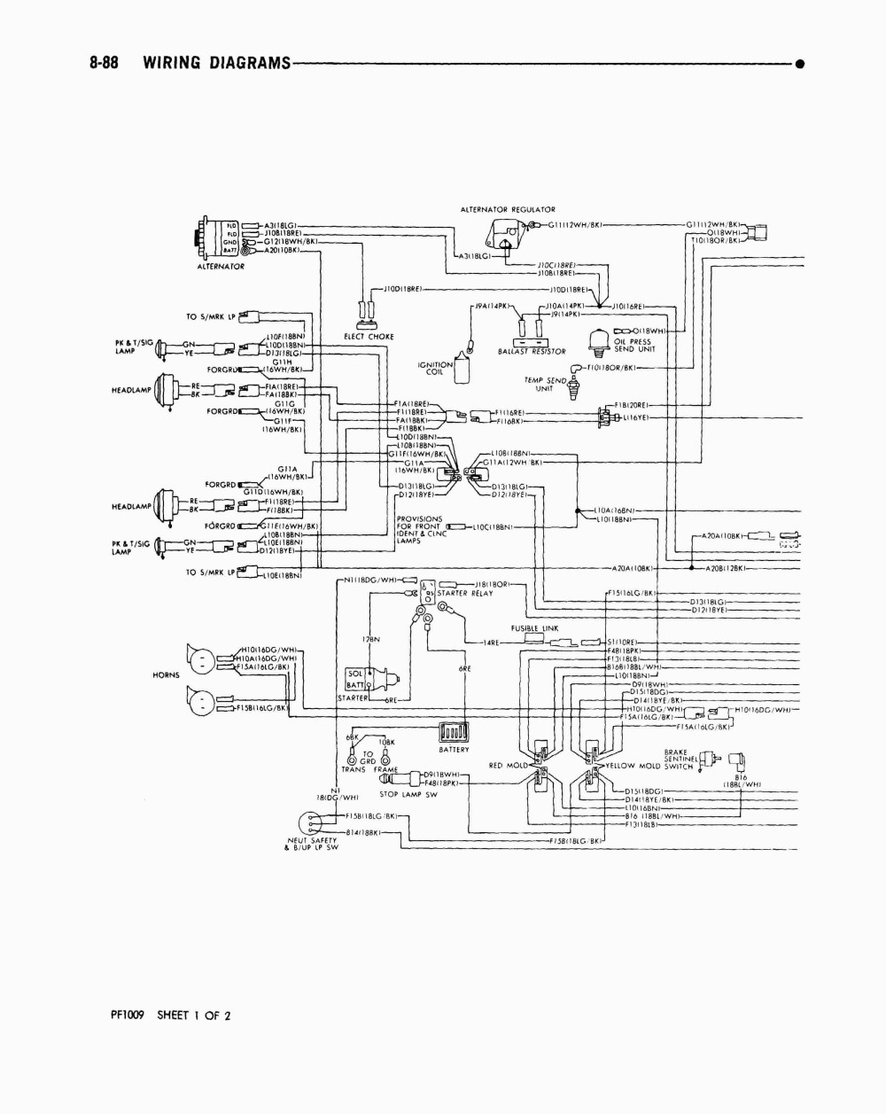 medium resolution of ford f53 headlight wiring wiring diagram imp